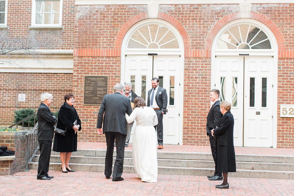 Elopement in Old Town Alexandria by Virginia Wedding Photographer Sarah Botta Photography